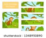 cut   complete the picture.... | Shutterstock .eps vector #1348950890