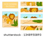 cut   complete the picture.... | Shutterstock .eps vector #1348950893