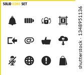 ui icons set with language ...