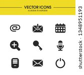user icons set with attach file ...
