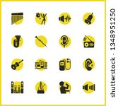 melody icons set with sound... | Shutterstock .eps vector #1348951250