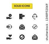 support icons set with care ...