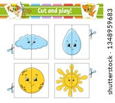 cut and play. flash cards.... | Shutterstock .eps vector #1348959683
