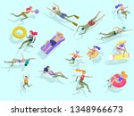 people family and children in... | Shutterstock .eps vector #1348966673