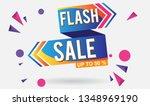flash sale design for business... | Shutterstock .eps vector #1348969190