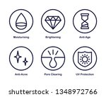 set of 6 vector icon with... | Shutterstock .eps vector #1348972766