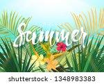 summer tropical design for... | Shutterstock .eps vector #1348983383