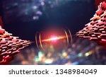 global information network over ...   Shutterstock . vector #1348984049