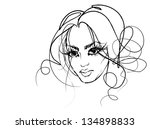 background with a portrait of... | Shutterstock . vector #134898833