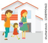 family walk together with... | Shutterstock .eps vector #1348990463