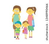 family walk together with... | Shutterstock .eps vector #1348990466
