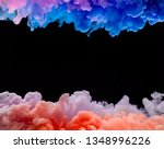coloured acrylic ink mixing in... | Shutterstock . vector #1348996226