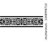 polynesian tattoo sleeve... | Shutterstock .eps vector #1348998713