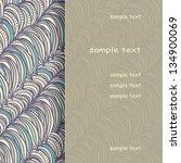 beautiful abstract invitation... | Shutterstock .eps vector #134900069