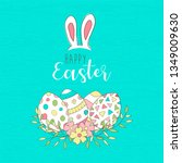happy easter holiday... | Shutterstock .eps vector #1349009630