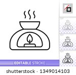 aroma lamp thin line icon....   Shutterstock .eps vector #1349014103
