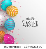 happy easter greeting card... | Shutterstock .eps vector #1349021570