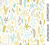 vector hand drawn floral...   Shutterstock .eps vector #1349026910