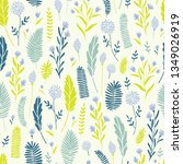 vector hand drawn floral...   Shutterstock .eps vector #1349026919