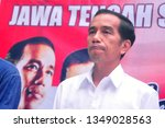 Small photo of Jokowi Widodo came to the Marhaenis Institution, Semarang City, Central Java, Indonesia, (Sunday, 13 July 2014), to see the results of the vote recapitulation for 2014 presidential candidates