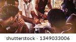 coach explaining game plan to... | Shutterstock . vector #1349033006