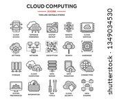 cloud computing. internet... | Shutterstock .eps vector #1349034530