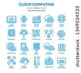 cloud computing. internet... | Shutterstock .eps vector #1349034533