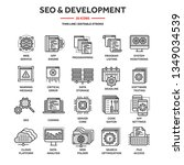 seo and app development. search ...   Shutterstock .eps vector #1349034539