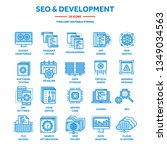 seo and app development. search ...   Shutterstock .eps vector #1349034563