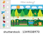 how many counting game with... | Shutterstock .eps vector #1349038970