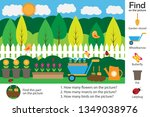 activity page  garden picture... | Shutterstock .eps vector #1349038976
