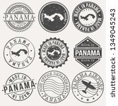 panama set of stamps. travel... | Shutterstock .eps vector #1349045243
