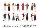 collection of cute men giving... | Shutterstock .eps vector #1349059109