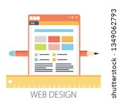 vector illustration of website...