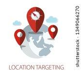 vector illustration of location ... | Shutterstock .eps vector #1349066270