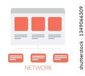 vector organization chart ... | Shutterstock .eps vector #1349066309
