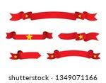 vietnam flag ribbon isolated on ...   Shutterstock .eps vector #1349071166