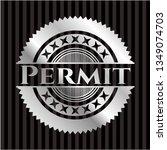 permit silver badge | Shutterstock .eps vector #1349074703