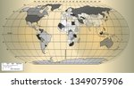 world map on a gold background | Shutterstock .eps vector #1349075906