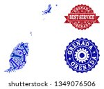 best service collage of blue... | Shutterstock .eps vector #1349076506