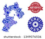 best service collage of blue... | Shutterstock .eps vector #1349076536