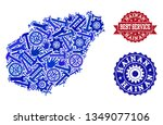 best service collage of blue... | Shutterstock .eps vector #1349077106