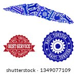 best service collage of blue... | Shutterstock .eps vector #1349077109