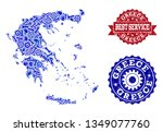 best service collage of blue... | Shutterstock .eps vector #1349077760