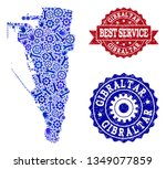 best service composition of... | Shutterstock .eps vector #1349077859