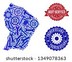 best service composition of... | Shutterstock .eps vector #1349078363