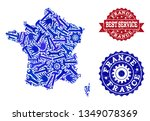 best service collage of blue... | Shutterstock .eps vector #1349078369