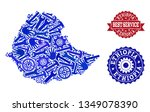 best service collage of blue... | Shutterstock .eps vector #1349078390