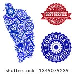 best service collage of blue... | Shutterstock .eps vector #1349079239