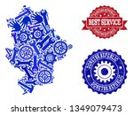 best service composition of... | Shutterstock .eps vector #1349079473